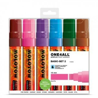 MOLOTOW ONE4ALL 627HS Marker 6er Basic-Set 2