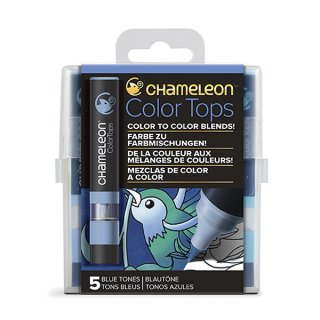 Chameleon Color Tops 5er Set - Blautöne