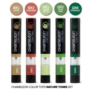 Chameleon Color Tops 5er Set - Naturtöne
