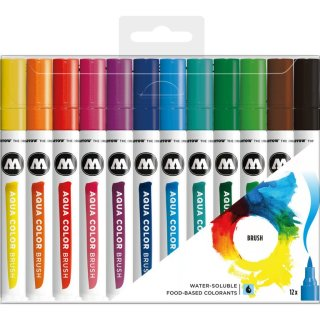MOLOTOW Aqua Color Brush Marker 12er Set